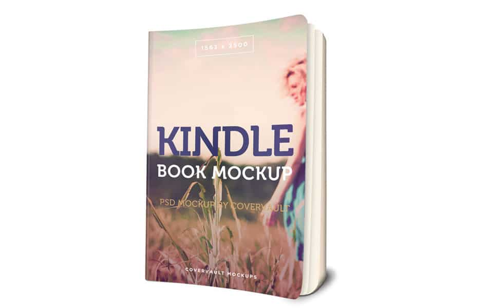 Kindle Paperback Book 3D Mockup