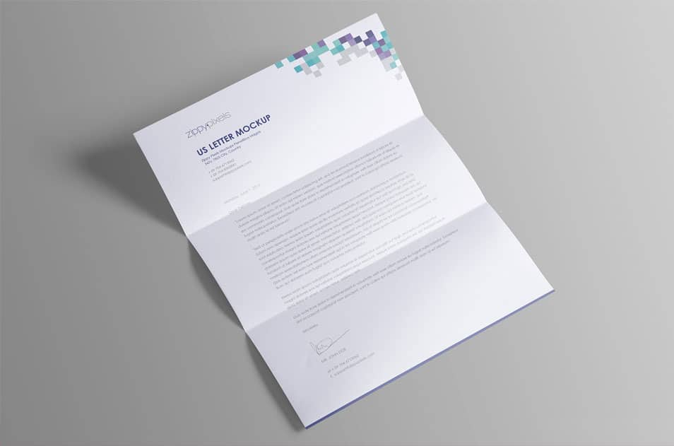 Professional & Clean Free US Letter Paper Mock-Up