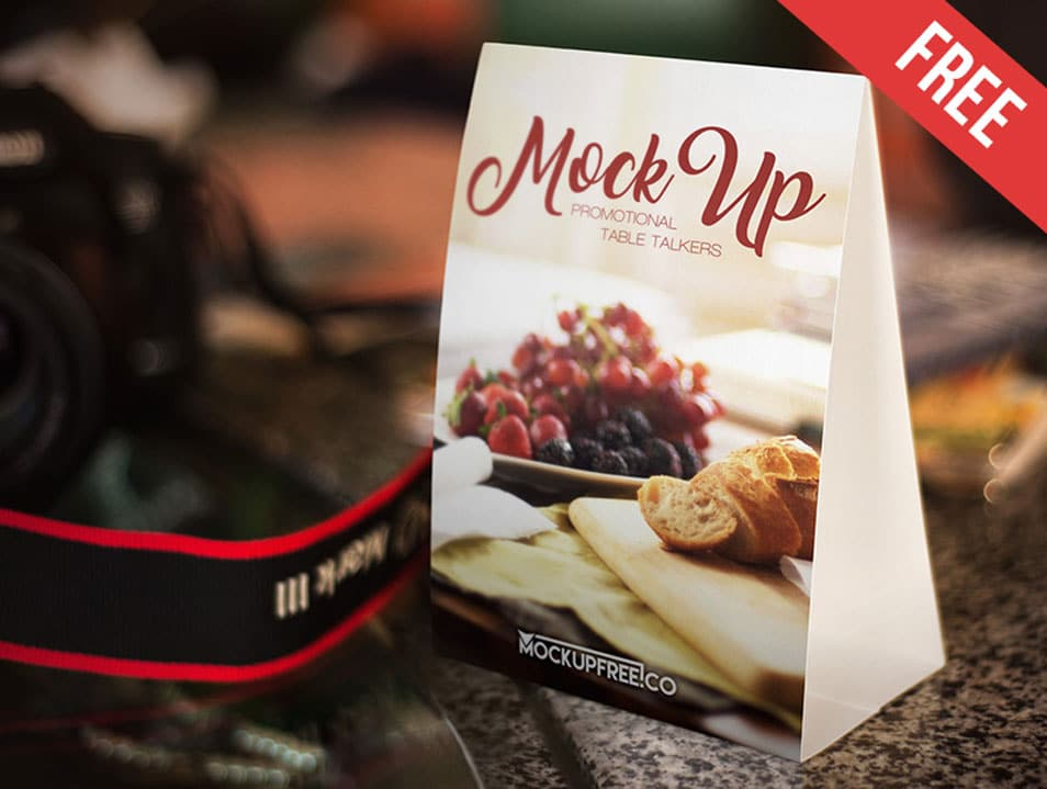 Promotional Table Talkers PSD Mockup