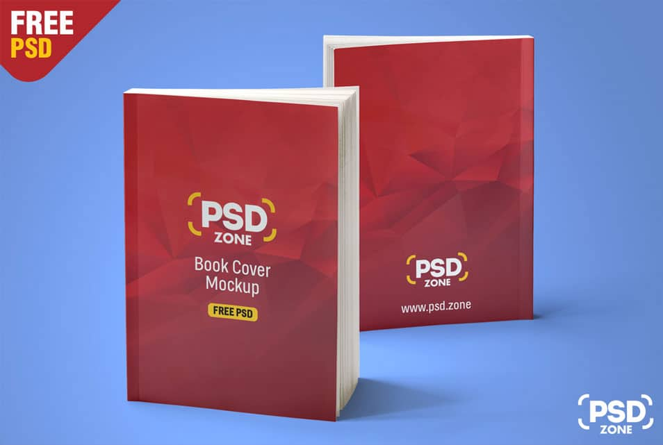 Realistic Book Mockup Free PSD