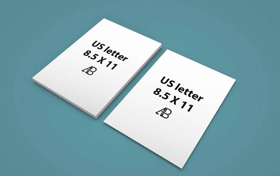 Realistic US Letter Paper Mockup