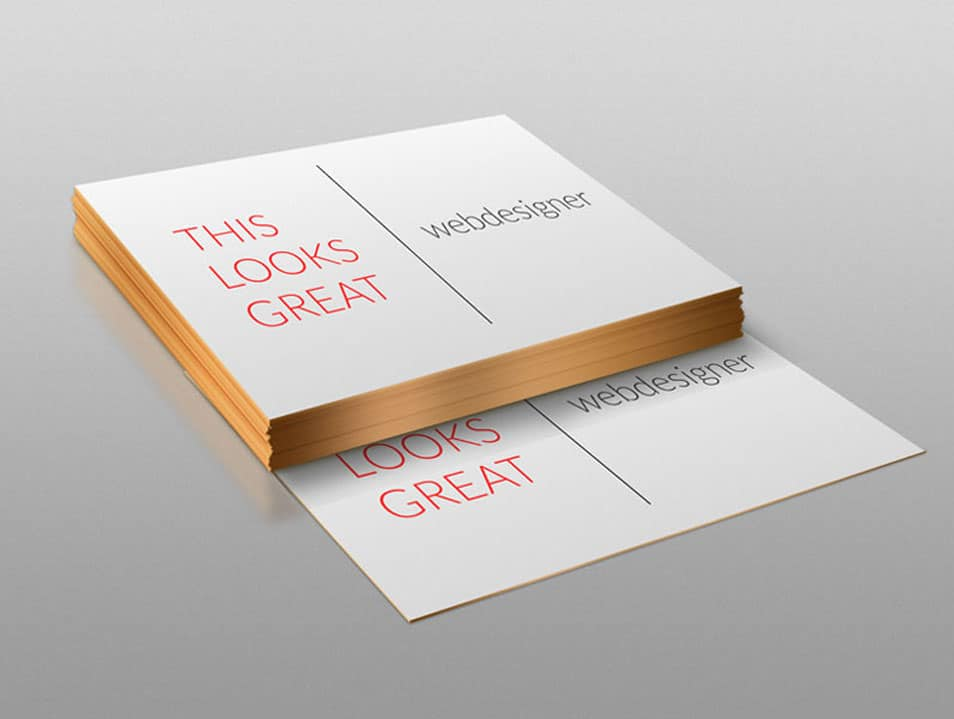 Stack of Business Cards Design Mockup
