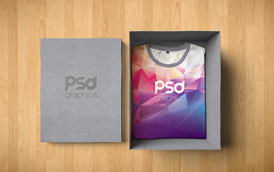 T-Shirt Box Packaging Mockup