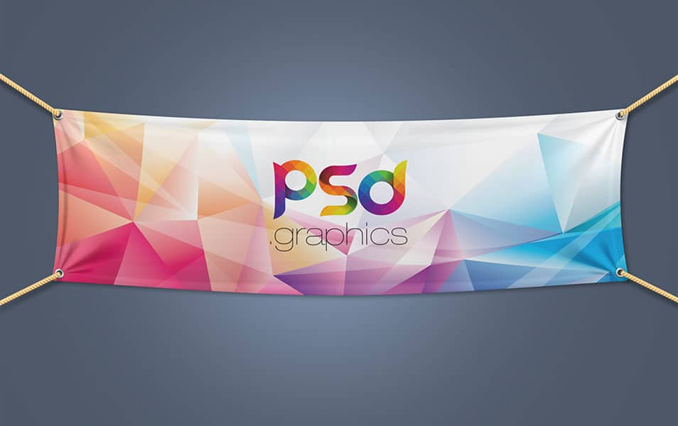 Textile Fabric Banner Mockup