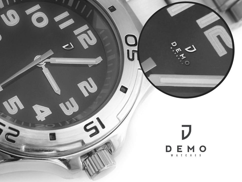 Wrist Watch Logo Mock up