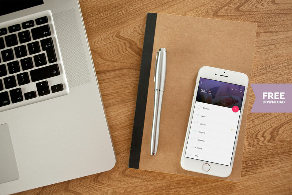 2x Free iPhone 6 Photo Mockups