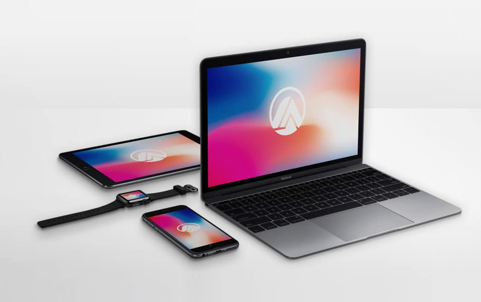 Apple Devices Mockup PSD