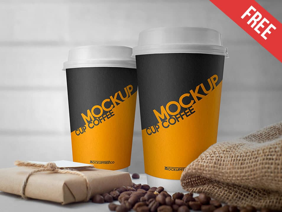 Cup Coffee PSD Mockup