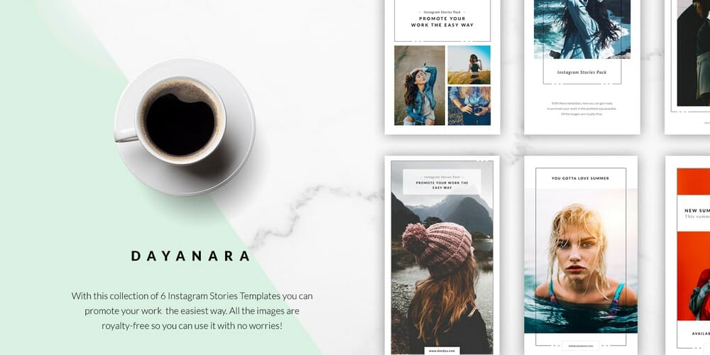 Dayanara Instagram Stories Templates PSD