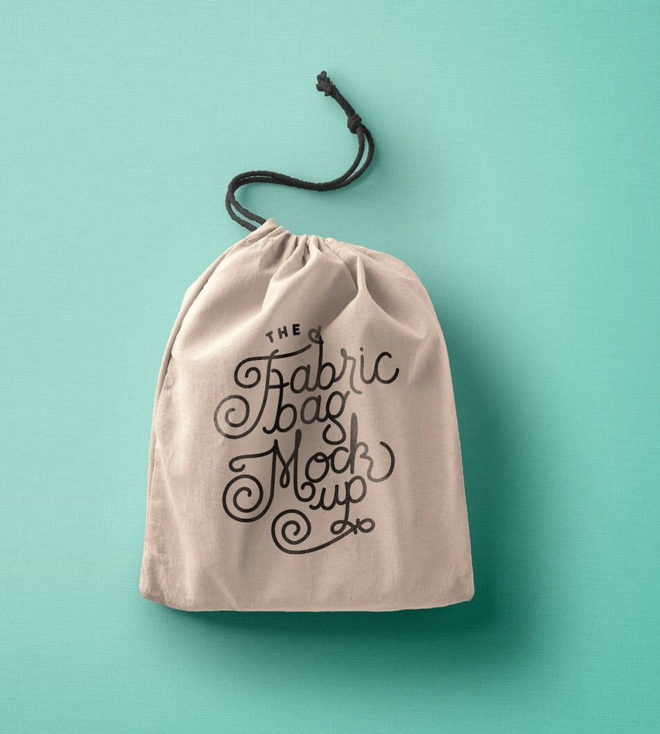 Drawstring PSD Bag Mockup