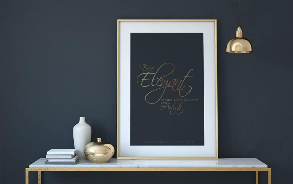 Free Elegant Photo Frame Mock-up PSD