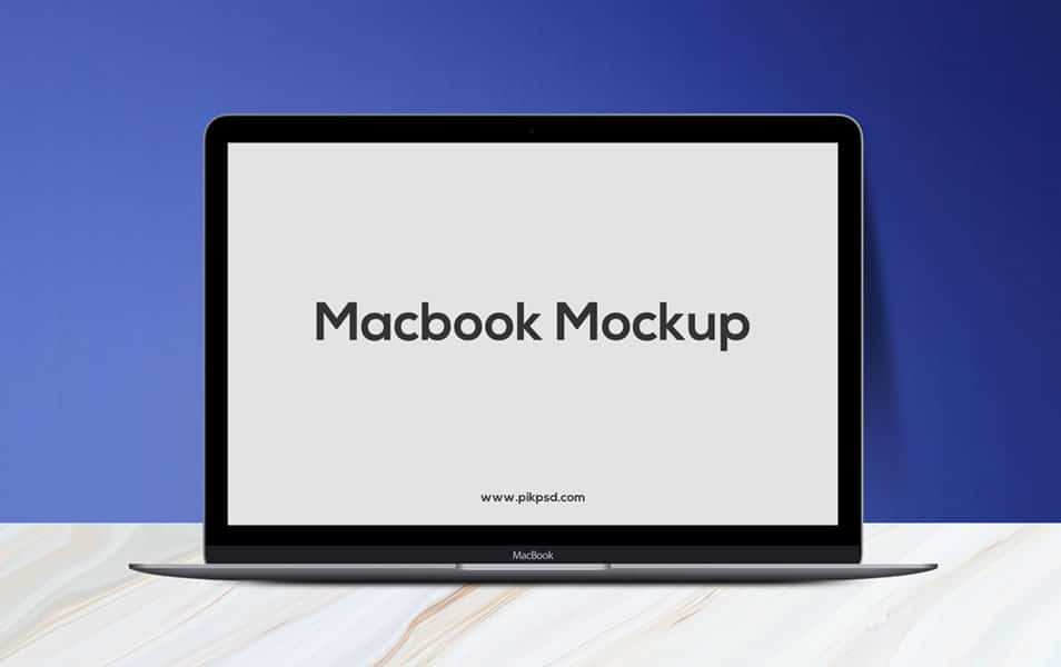 Free Fresh MacBook Mockup PSD