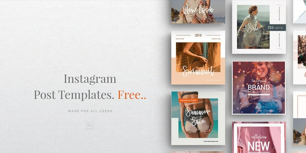 Free Instagram Fashion Social Media Templates PSD