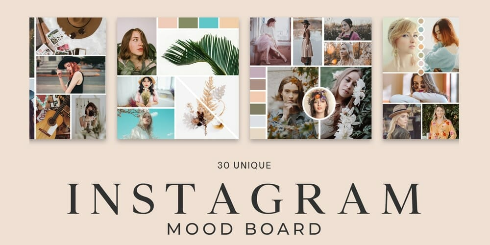 Free Instagram Mood Board Templates PSD