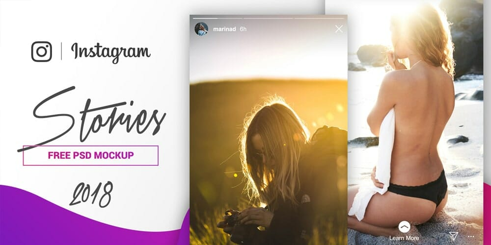 Free Instagram Stories Mockup PSD