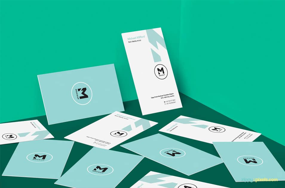 Free Magnificent Business Card Design Mockup