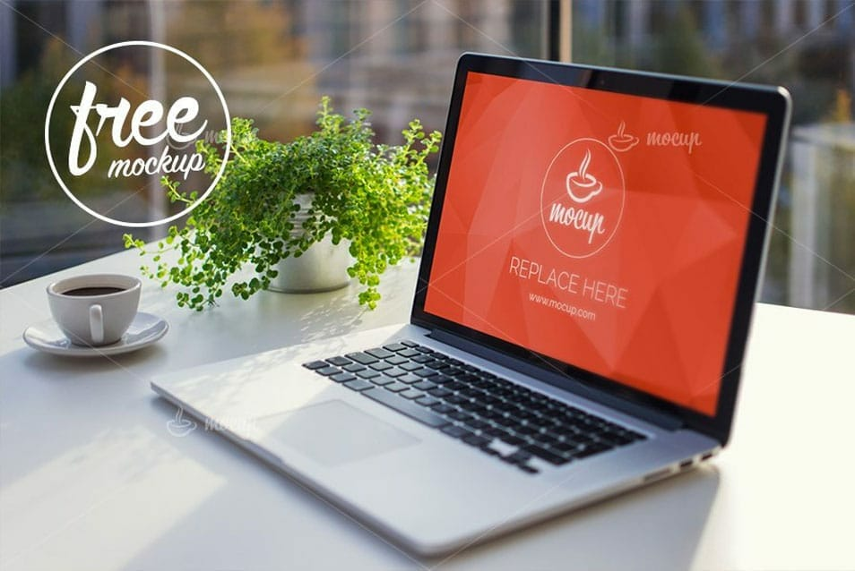 Free PSD Mockup MacBook Office