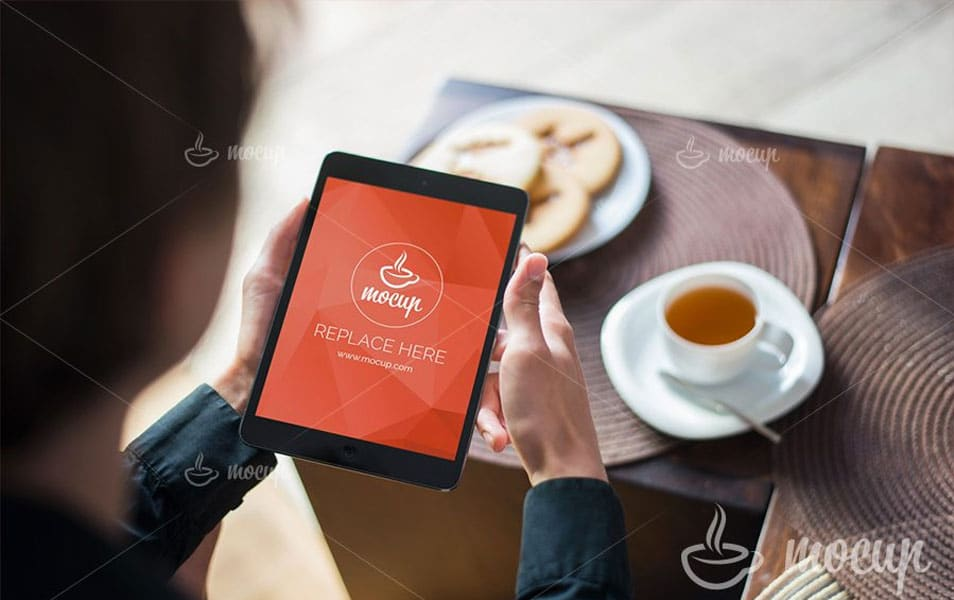 Free PSD Mockup iPad Mini
