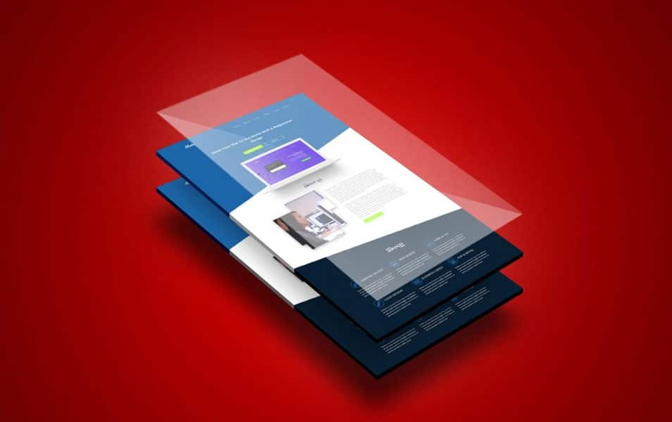 Free Perspective App Screen Mock-Up