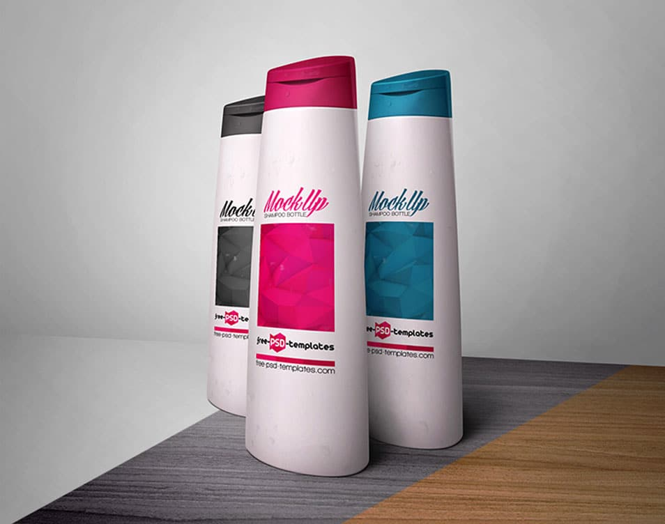 Free Shampoo Bottle Mock-up PSD