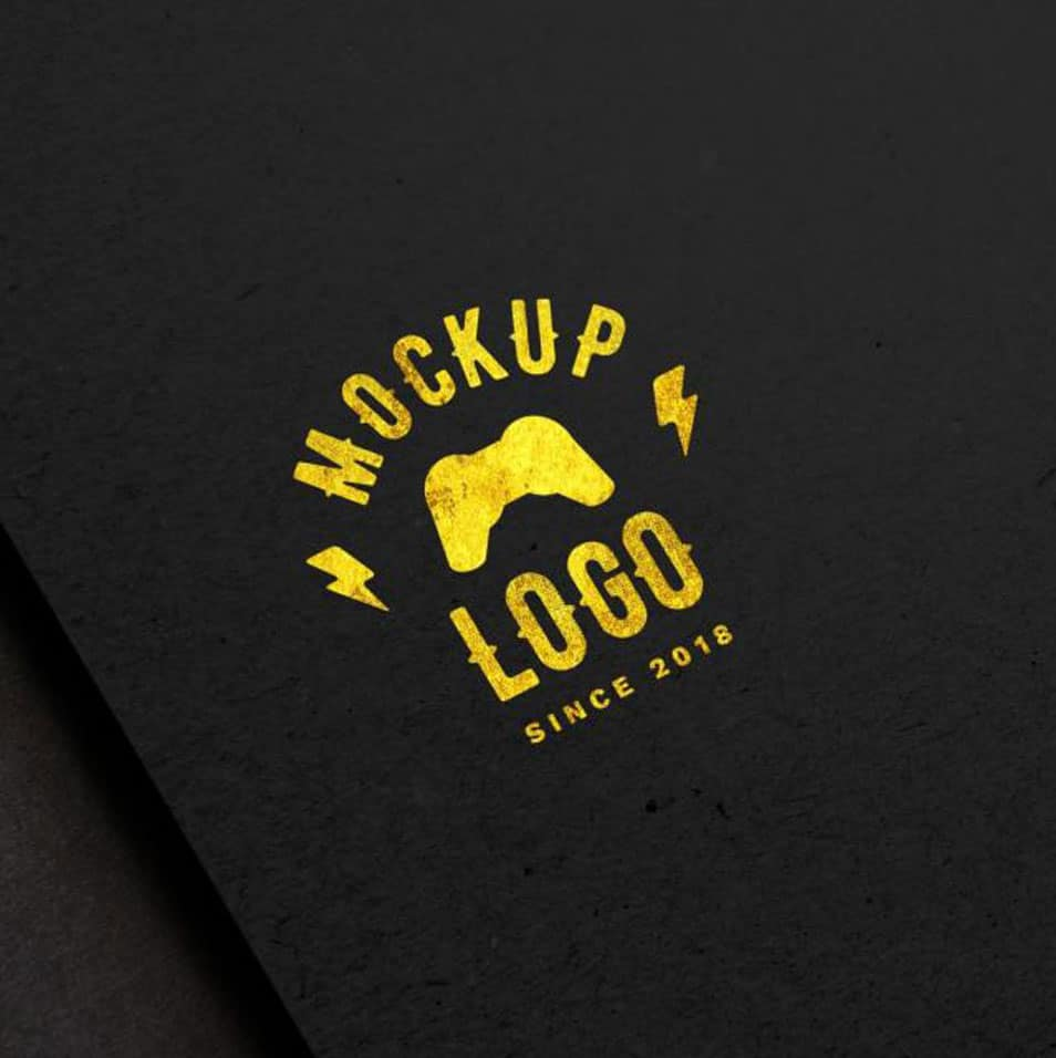 Luxury Logo Mockup on Black Surface