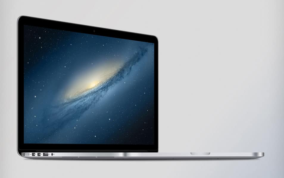 MacBook Pro Retina Display PSD Mockup
