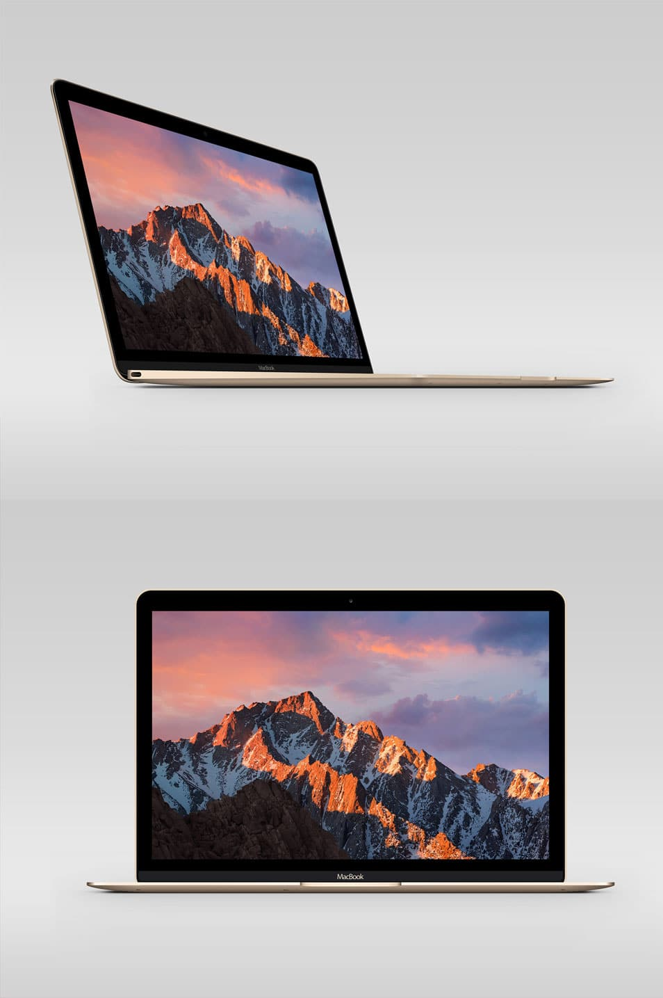 MacBook Retina Display PSD Mockup