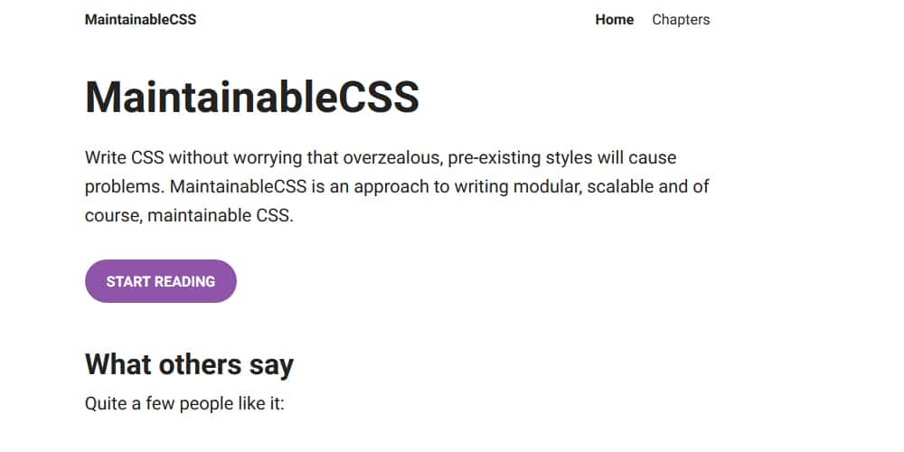 Maintainable CSS