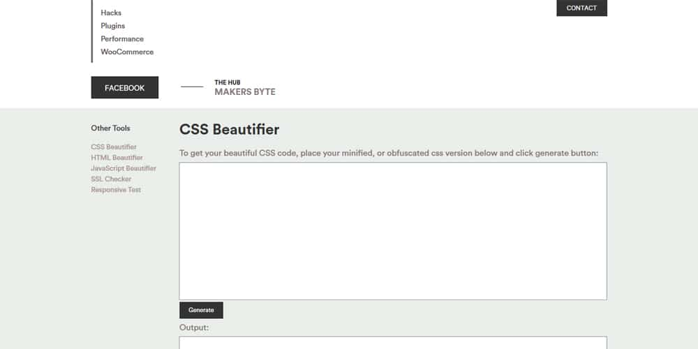 Makersbyte CSS Beautifier