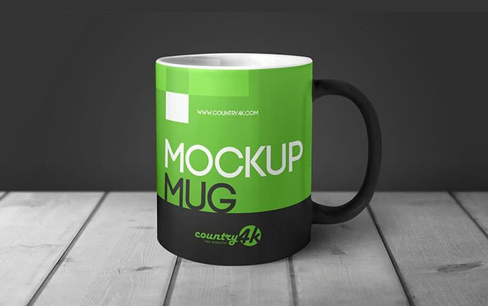 MockUp Mug in Table Free PSD