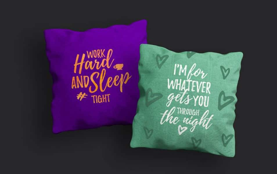 Pillow PSD Mockup
