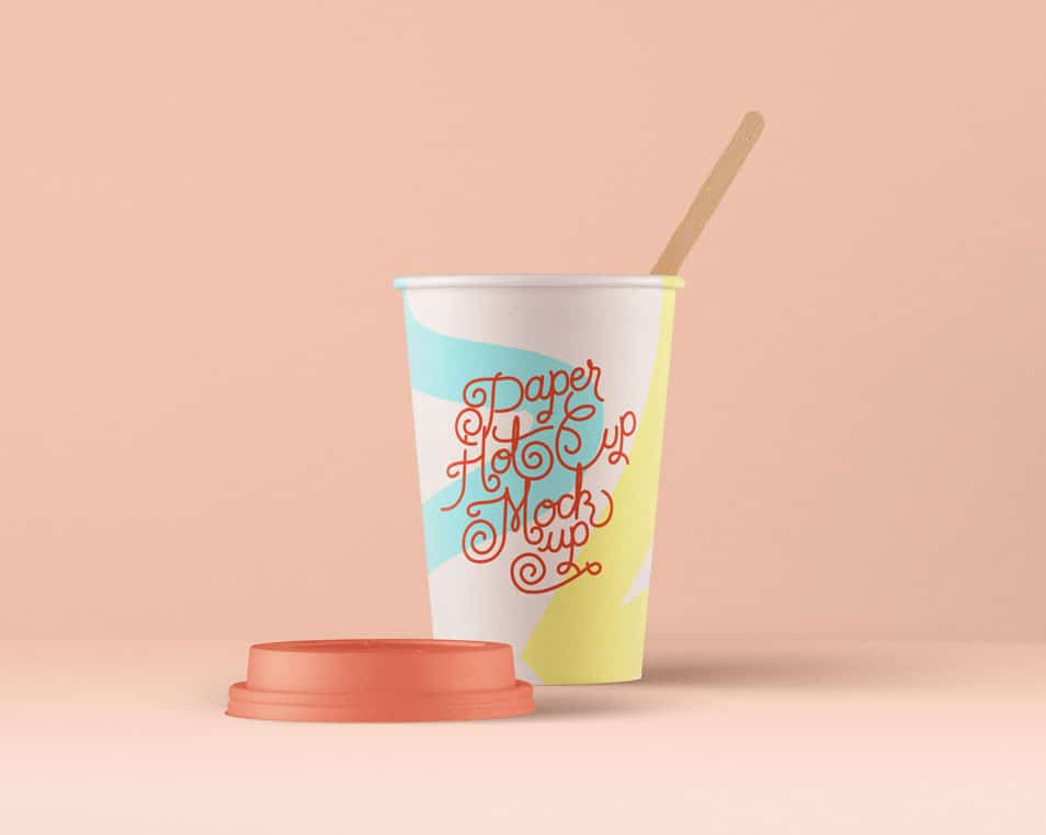 PSD Paper Hot Cup Template