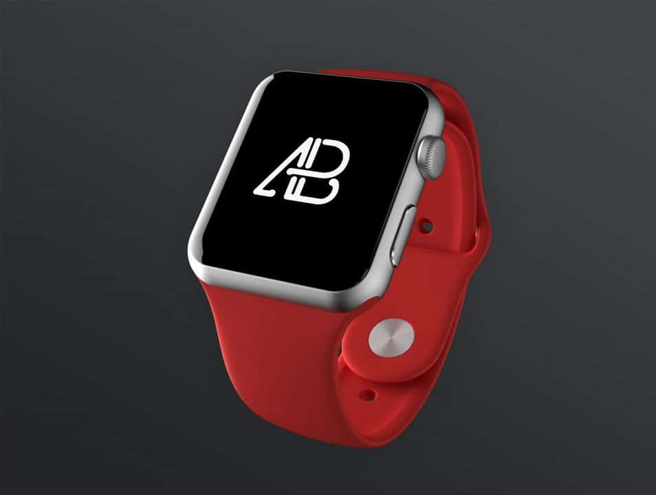 Realistic Apple Watch Series 2 Mockup
