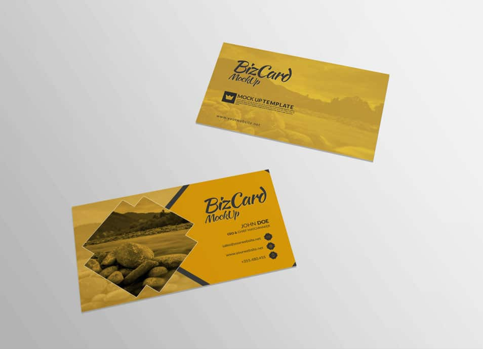 Rectangular Shape Business Card Mockup
