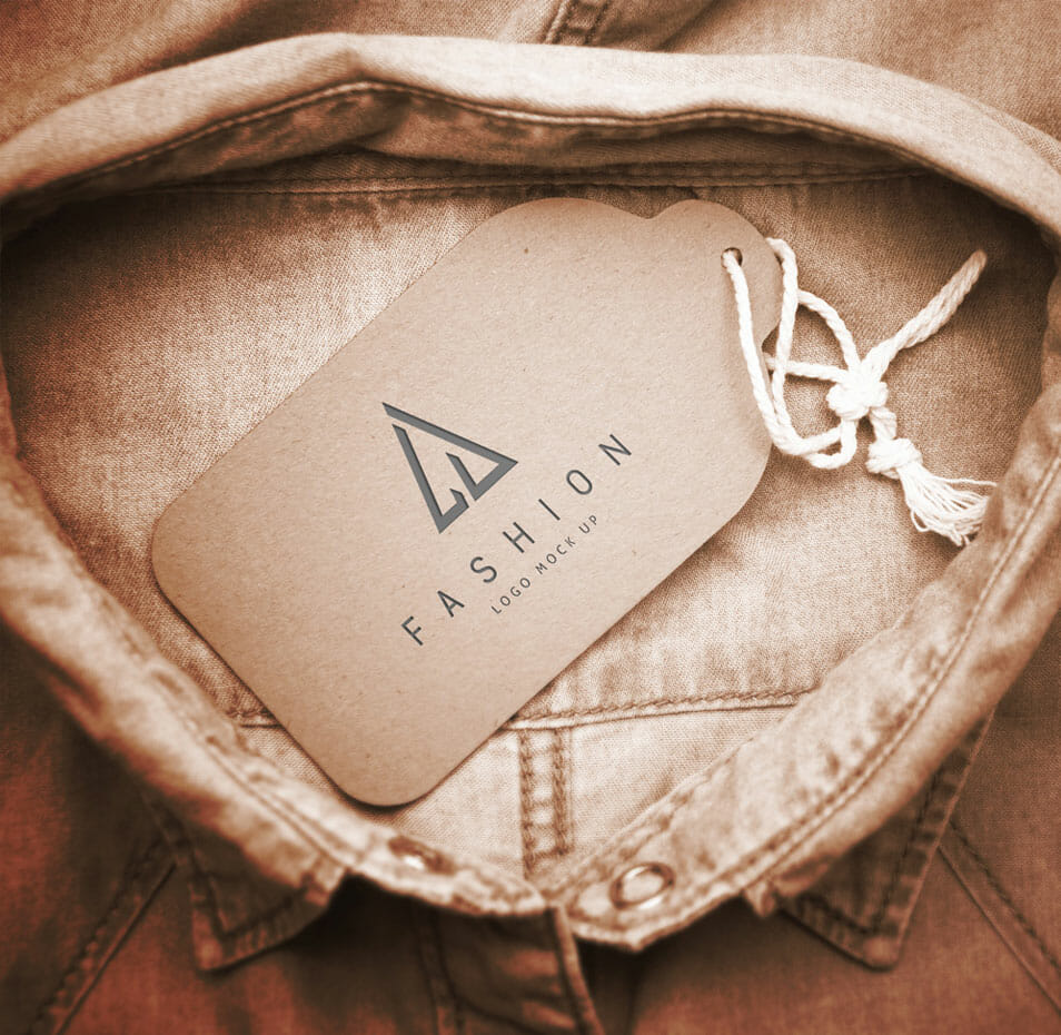 Shirt Collar Tag Mockup