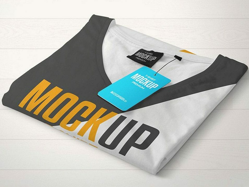 T-Shirt with Hangtag PSD Mockups