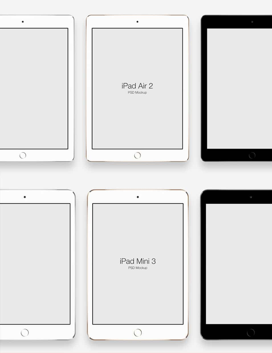 iPad Air 2 & iPad Mini 3 Mockups