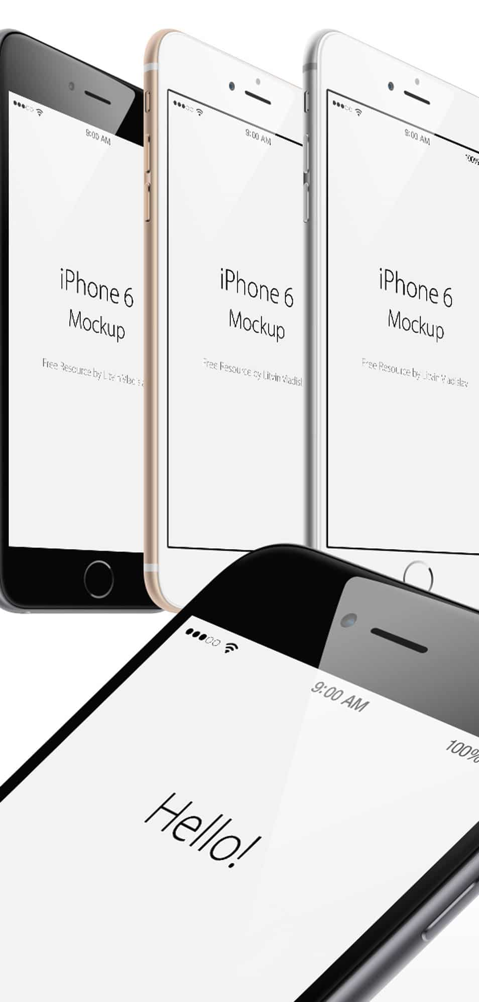 iPhone 6 Plus Angle View MockUp