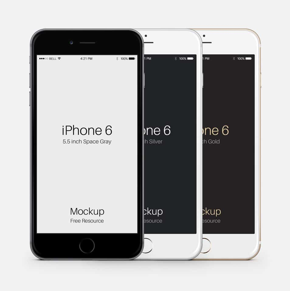 iPhone 6 Plus PSD Vector Mockup