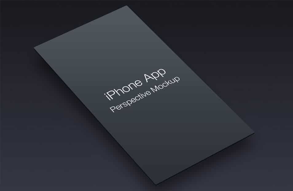 iPhone App Perspective Mockup