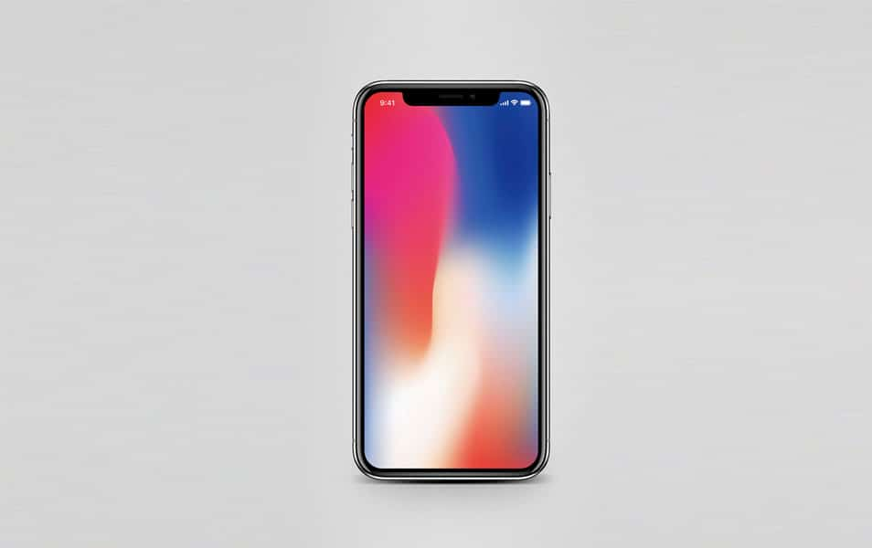 iPhone X Mockup with Status bar icons
