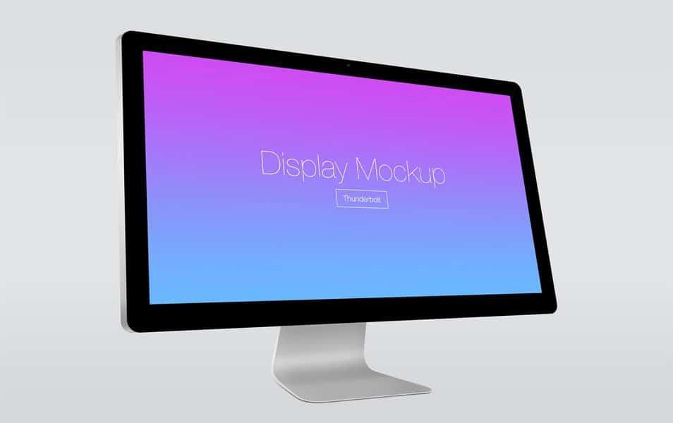 Apple Thunderbolt Display Mockup