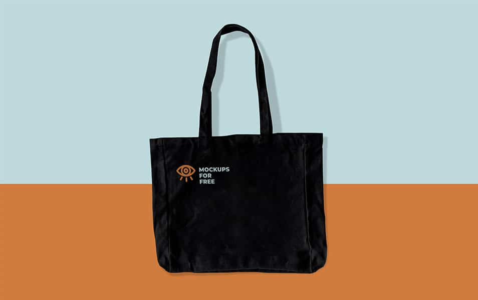 Black Fabric Bag Mockup