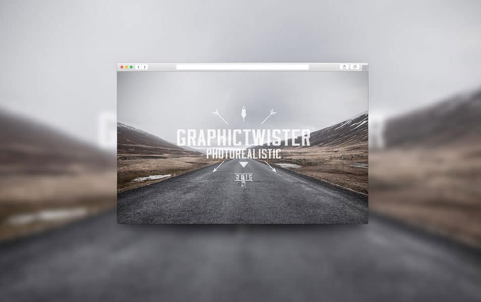 Blurred Background Browser Template