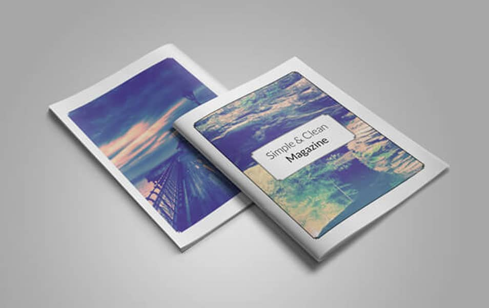 Clean & Simple Magazine Mockup
