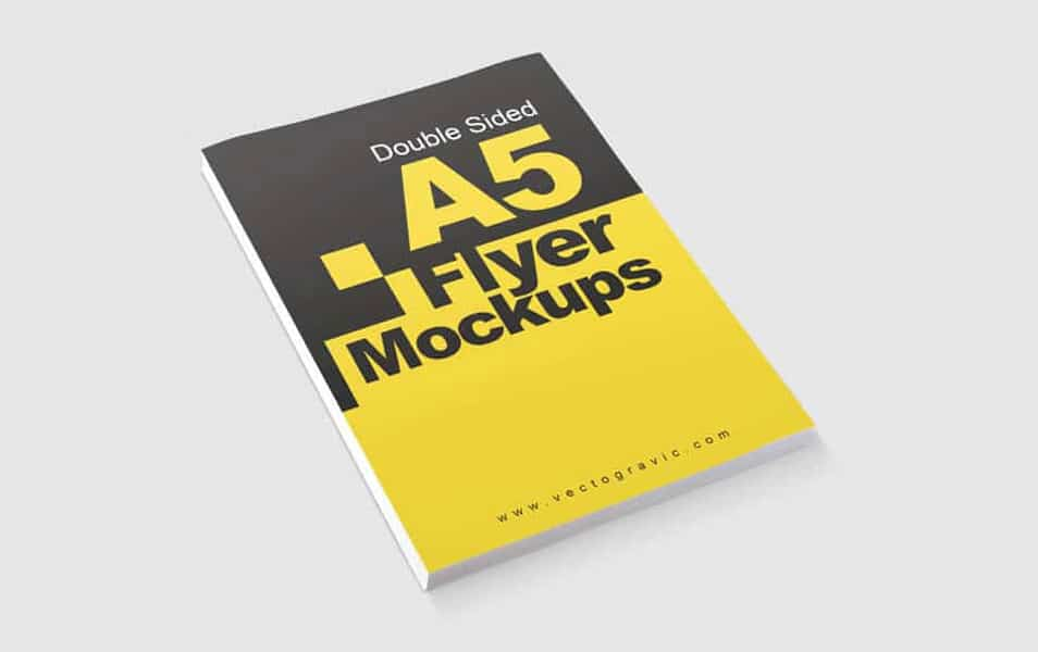 Double Sided A5 Flyer Mockups