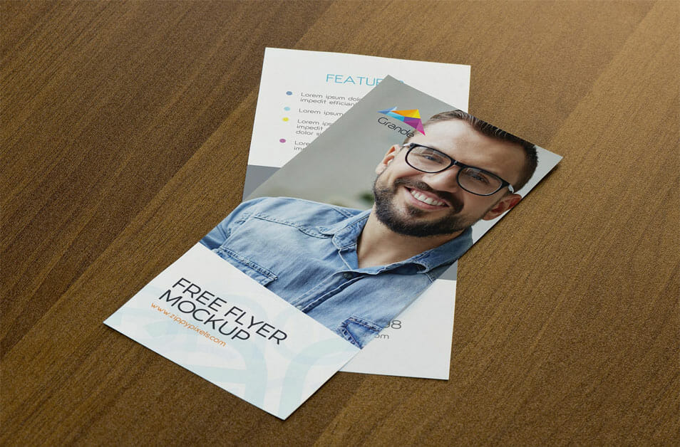 Free Attractive Flyer Mockup