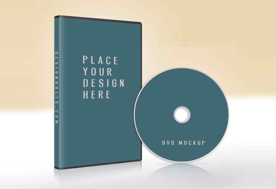 Free CD / DVD Case & Disc Cover Mock-up PSD