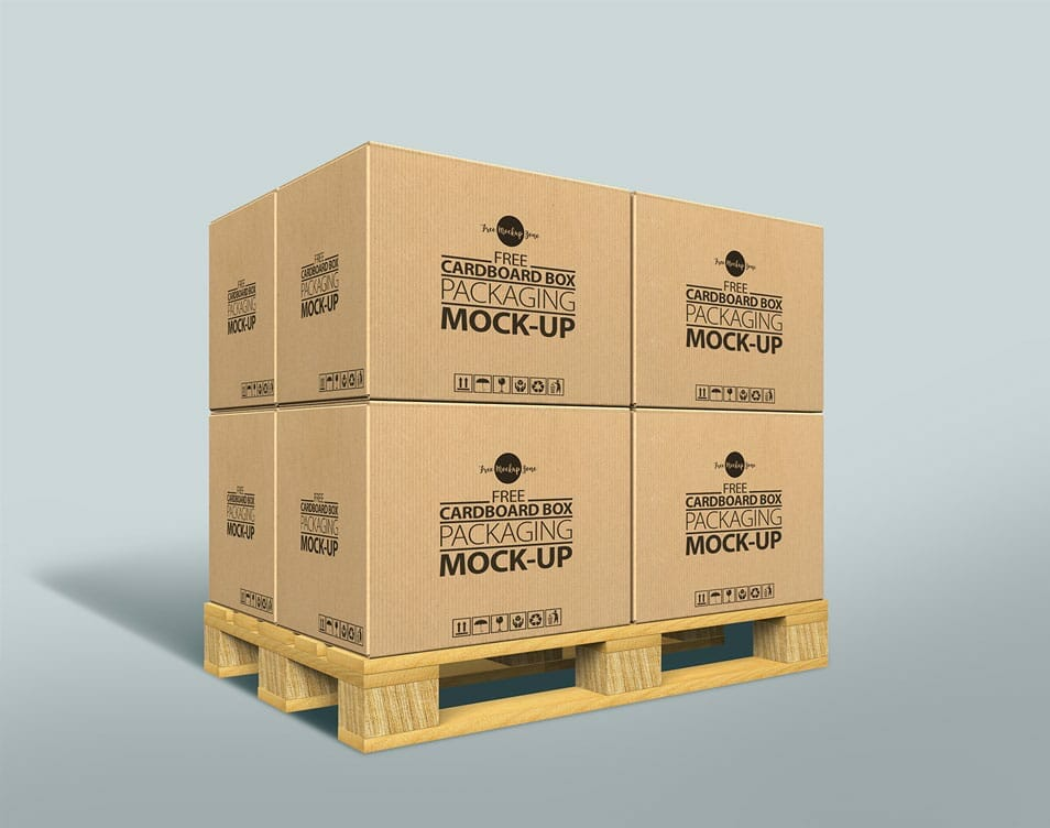Free Cardboard Box Packaging Mock-up PSD