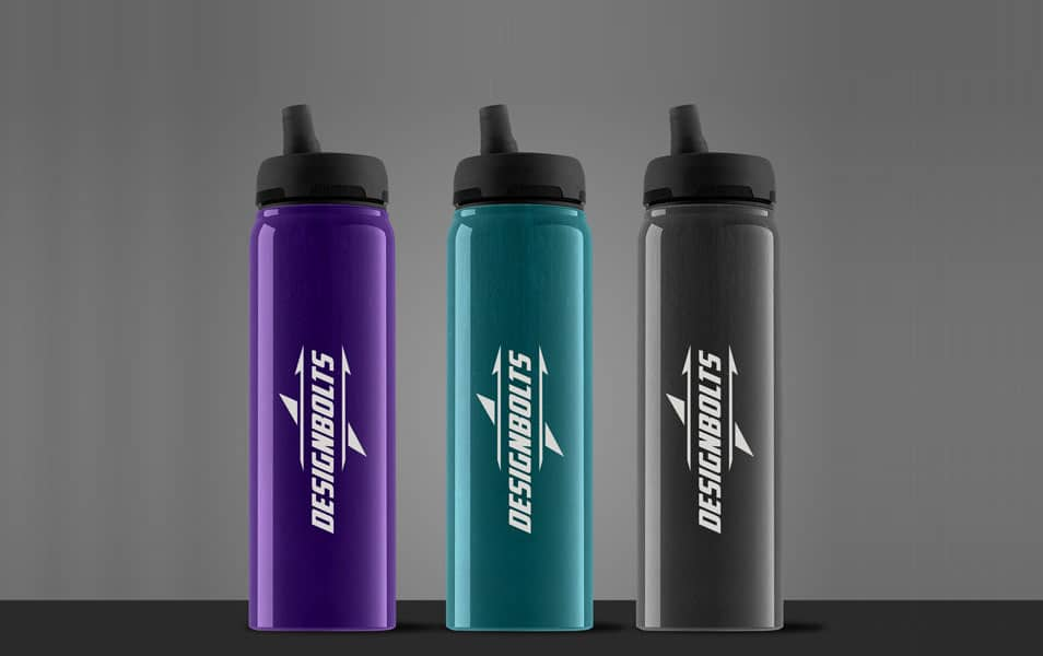 Free Eco Friendly Water Bottle Mock-up PSD